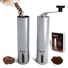 Orvite Ceramic Burr Manual Coffee Grinder  Portable Stainless Steel Conical Coffee Mill with Hand Crank  Aeropress  Espresso Compatible -- Check this awesome product by going to the link at the image.Note:It is affiliate link to Amazon.