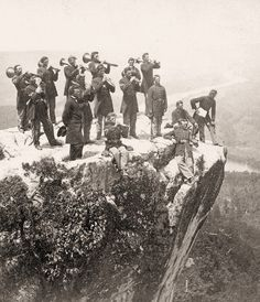 OLD CIVIL WAR PICTURES - Union Army Band on Lookout Mountain- 1864   I've been there!