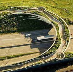 Vancouver Land Bridge, Vancouver, Washington    The Vancouver Land Bridge is a pedestrian bridge that links back to the Klickitat Trail, Lewis and Clark and the development of the Northwest. It completes a circle that's been broken.