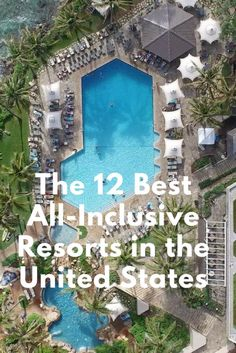 Here are the 12 best hotels that offer all-inclusive packages in the United States. Drumroll please . Announcing the very best all-inclusive resorts in the USA. They range from tropical resorts to rustic ranches and Victorian hotels. Best Summer Vacations, Vacations In The Us, Romantic Vacations, Vacation Trips, Romantic Travel, Greece Vacation, Best Family Vacation Spots, Family Summer Vacation Ideas, Family Vacation Destinations