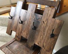 Rustic / Reclaimed / Barn Wood Wall Hung Coat by TheBarnYardShop