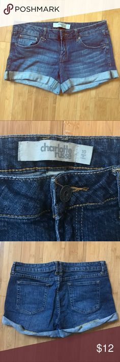 Charlotte Russe Jean Shorts This listing is for a pair of Charlotte Russe 3inch dark wash jean shorts in a size 10. Worn only once. Charlotte Russe Shorts Jean Shorts