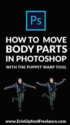 Did you know that you can manipulate the position of arms, legs, eyebrows and any other part of a human photo? In this tutorial I will show you how to do just that using the Puppet Warp tool in Adobe Photoshop! And guess what? It's not even hard Photoshop Design, Photoshop Tutorial, Art Tutorial, Learn Photoshop, Cool Photoshop, Effects Photoshop, Photoshop For Photographers, Photoshop Photos, Photoshop Actions
