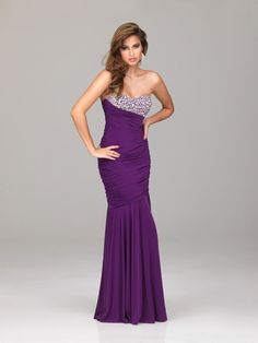 Sweetheart  Purple Military Ball Dress