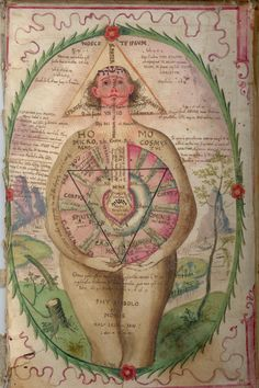 Alchemy: Watercolor image from the inside of one of the original covers of a copy of Robert Fludd's Utriusque cosmi maioris scilicet et minoris metaphysica. An #Alchemy artwork. / Sacred Geometry <3