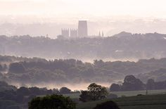 The view of Durham Cathedral from Brandon.