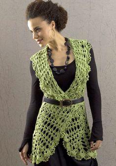 *Free Crochet Pattern: Deerfield Vest  designed by  Kristin Omdahl