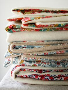 Molly's Sketchbook: Liberty and Wool Lap Blankets by the purl bee, via Flickr