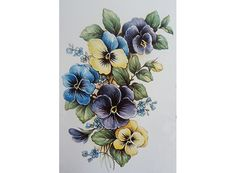 2276 Pansy Flowers
