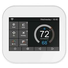 A smart thermostat is a unit you use with home automation to control your heating and cooling appliances at home. Check out the best thermostats of Hive App, Home Thermostat, Thermostats, Smart Home Technology, Works With Alexa, Home Security Systems, Home Automation, Dreams, Tecnologia
