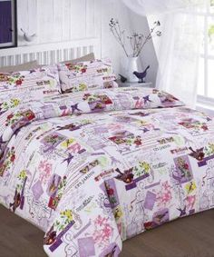 New luxury printed tilly duvet quilt cover bedding set with pillow cases Purple Duvet, Purple Bedding Sets, King Size Bedding Sets, Girls Bedding Sets, Green Bedding, Gold Bedding, White Bedding, Turquoise Bedding, Comforter Sets