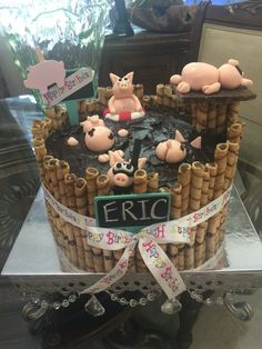 """My version of the """"happier than a pig in mud"""" cake"""