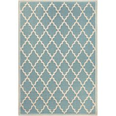 Found it at Wayfair - Cardwell Ocean Port Turquoise/Sand Indoor/Outdoor Area Rug