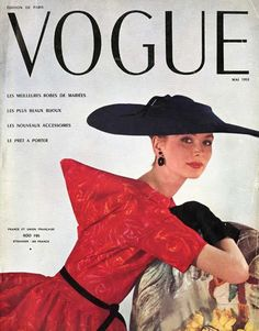 Cristobal Balenciaga, apparel, textile spinning and weaving, Costa, Como, on the cover of Vogue Paris, May 1953