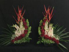 ~ Pin by catherine song on Flowers Tropical Flower Arrangements, Church Flower Arrangements, Altar Flowers, Home Flowers, Unique Flowers, Tropical Flowers, Wedding Flowers, Gladiolus Flower, Corporate Flowers