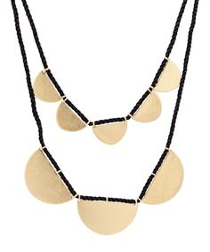 Scalloped Layer Necklace | $32 on www.mooreaseal.com