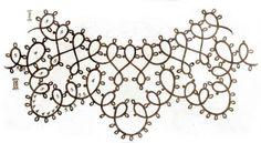 5 Collars with tatting pattern schemas / charts ! Nice !