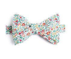 Noeud Papillon Liberty Eloise Turquoise Corail Turquoise and Coral Eloise Liberty Bow Tie