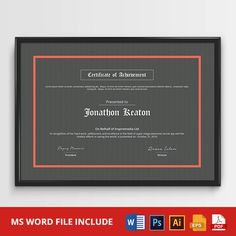 Multipurpose Certificate stationary template in Ms Word, AI, EPS, PSD, Pdf…