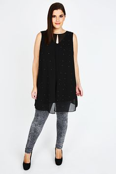 9b4db10cdf2 Browse plus size long tops in casual and formal styles here at Yours  Clothing.