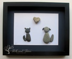 Personalized Animal Lover's Gift - Animal Themed Pebble Art - Personalized SticksnStone Pebble Art - Cats and Dogs on Etsy, $75.00 CAD