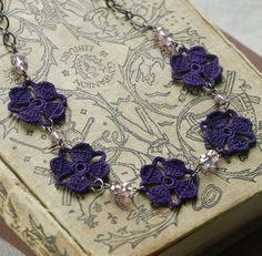 Nora Crochet Flower Necklace- Eggplant   Flickr - Photo Sharing!