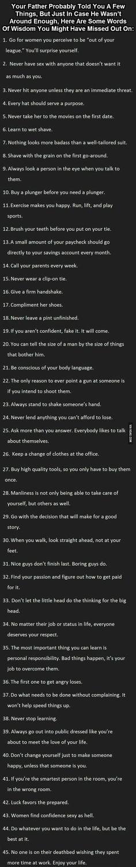 Rules for men...
