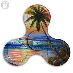 Tri Spinner Spinner Fidget Toy Hand Tri-Spinner Sunset Beach Stress Free ADHD Focus Anxiety Relief Toys EDC Helps Focus - Fidget spinner (*Amazon Partner-Link)