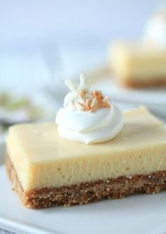 Key Lime Pie Bars - Lemon bars are a top favourite to make, but these might just be a nice twist.