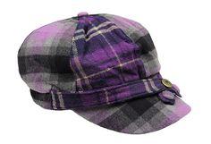 Purple Plaid Cap