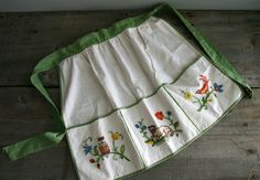 cute embroidered apron