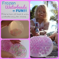 Frozen Water beads! So simple and yet so much FUN!!