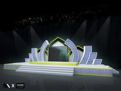 Stage design for Maolid Fair @ Krabi Stage Backdrop Design, Stage Lighting Design, Stage Set Design, Church Stage Design, Concert Stage Design, Wedding Stage Design, Corporate Event Design, Event Branding, Plateau Tv