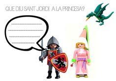 La llegenda de Sant Jordi Saint George, Conte, King Queen, Children, Queens, Roses, Disney, School, Worksheets For Kids