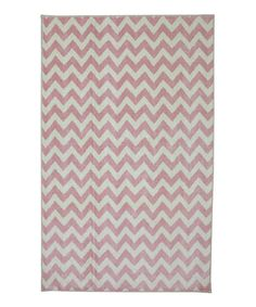 Pink Zizgag Area Rug by Mohawk Home #zulily #zulilyfinds