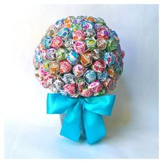 Lollipop Bouquet - Candy Bouquet - Birthday Mitzvah Wedding Party... ($32) ❤ liked on Polyvore