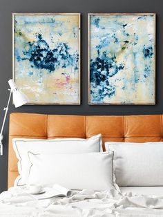 Set of 2 extra large prints Acrylic Abstract Painting Giclee