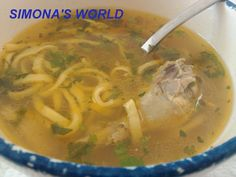 Supa de fazan cu taitei Supe, Thai Red Curry, Ethnic Recipes, Food, Essen, Meals, Yemek, Eten