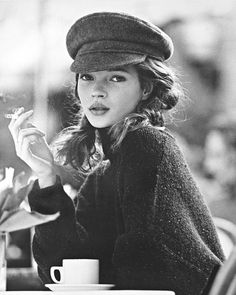 Kate Moss young top model rock chick style