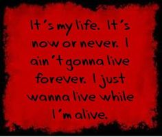 It's My Life- Bon Jovi lyrics Great Song Lyrics, Lyrics To Live By, Song Lyric Quotes, Life Lyrics, Music Lyrics, Music Quotes, Lyric Art, Play That Funky Music, Jazz