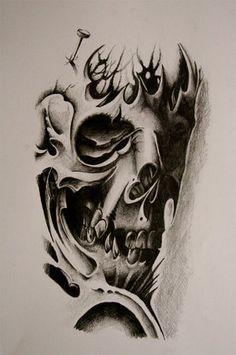 Sugar Skull Tattoo by Metacharis.devian... on @deviantART -- minus the skull maybe, roses turned horizontal