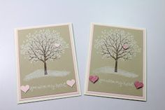 Country Stampers: Sheltering Tree Valentine Card