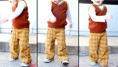 Pantalon avec poches - Dana     tuto + patron     2/3 ans