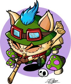 League Of legends Teemo Sticker by alienationshop Lol Chibi, Anime Chibi, Red Dragon, The Magicians, Pop Art, Funny Pictures, Deviantart, Manga, Illustration