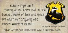 hufflepuff + the doctor.