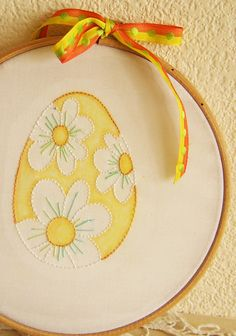 Easter Spring Floral Hand Embroidery Pattern PDF