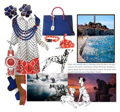 """""""Walking Her Dalmatian In Dalmatia"""" by sharee64 ❤ liked on Polyvore featuring F.R.S. For Restless Sleepers, Marni, Yves Saint Laurent, Dot & Bo, Versus and Jayson Home"""