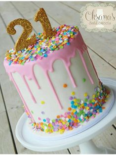 Beautiful Picture of Birthday Cake Ideas . Birthday Cake Ideas How To Make A Drip Cake Plus 50 Amazing Drip Cake Ideas To Inspire Birthday Drip Cake, 21st Birthday Cakes, Birthday Cake Decorating, Birthday Cookies, Fondant Birthday Cakes, Birthday Cakes For Girls, 21 Bday Cake, Amazing Birthday Cakes, Chocolate Drip Cake Birthday