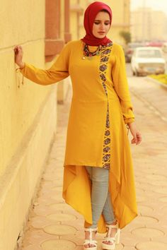 Best 11 Dress model to stitch Salwar Designs, Kurti Neck Designs, Dress Neck Designs, Kurti Designs Party Wear, Designs For Dresses, Blouse Designs, Muslim Fashion, Hijab Fashion, Fashion Outfits