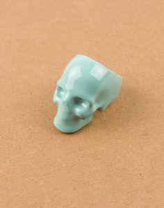 Mödernaked Green Skull Ring